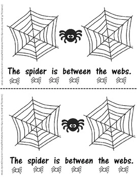 Where Is Spider?  An Emergent Reader Book About Positions!  Word & Pic Cards Too