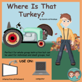 Interactive Book for Speech Therapy:  Thanksgiving Turkey