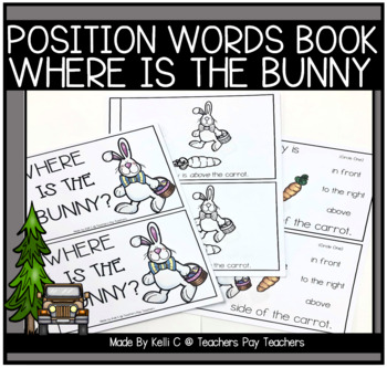 Where Is The Easter Bunny?  Three Individual Books That Discuss Position Words