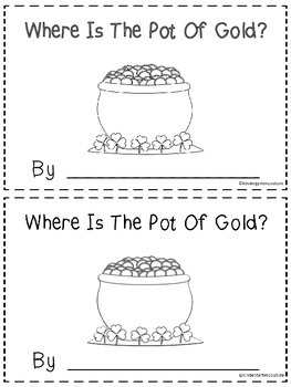 Where Is The Pot Of Gold? - A Positioinal Word Booklet