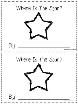 Where Is The Star?  - A Positional Word Booklet