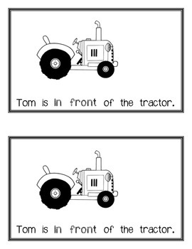 Where Is Tom? An Emergent Reader Text Focusing on Positional Words and Phrases