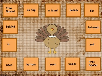 Where Is Tom Turkey?  Activities For Spatial Concepts