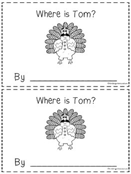 Where Is Tom?  -a positional word booklet