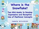 Where Is the Snowflake? Two Mini-books to Develop Language {FREEBIE}