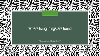 Where Living Things Are Found, Lesson 2