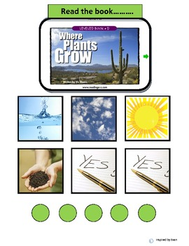 """Where Plants Grow"" Comprehension Questions & Token Test for Autism"