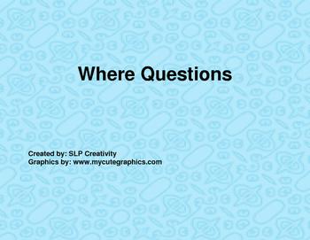 Where Question Flip Book