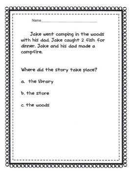 Where Questions 9 Short Simple Stories with Where Questions