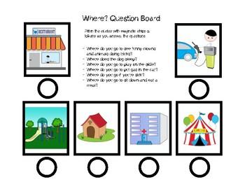 Where? Questions Board Receptive: Dot Reinforcement