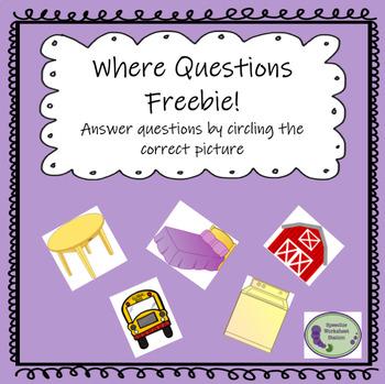 Where Questions Freebie