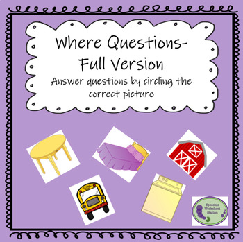 Where Questions: Full Version