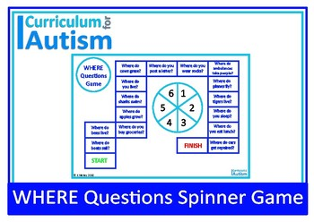 WHERE Questions Game Autism Special Education
