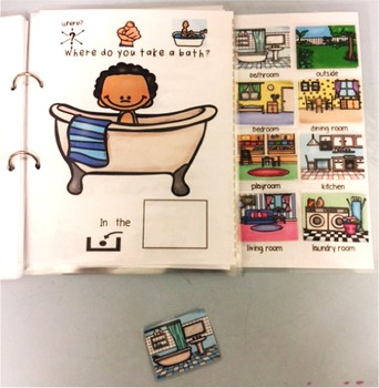 Where Questions- House themed; Interactive book and worksheets; Autism adapted