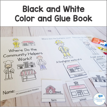 Where Questions - Interactive Adapted Book and Activity Pack - Community Helpers