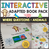 Where Questions - Preschool and Autism Interactive Book Activities - Animals