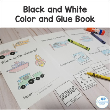 Where Questions - Preschool and Autism Interactive Book Activities - Vehicles