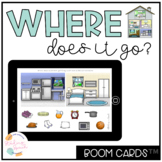 Where Questions: Speech Therapy No Print Boom Cards™