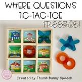 Where Questions Tic-Tac-Toe Freebie!