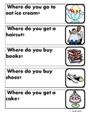 """""""Where Questions"""" for Autism with Picture Flashcard Answer Choices"""