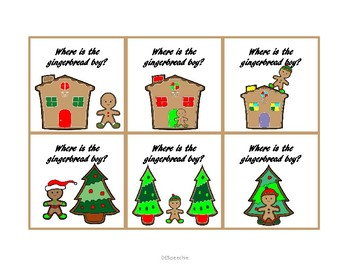 Where Questions for Spatial Concepts - Christmas Edition - FREE