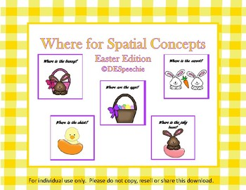 Where Questions for Spatial Concepts - Easter Edition - FREE
