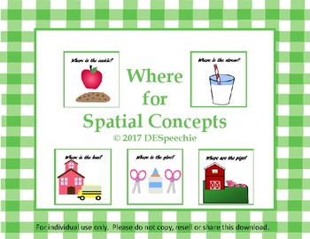 Where Questions for Spatial Concepts - FREEBIE