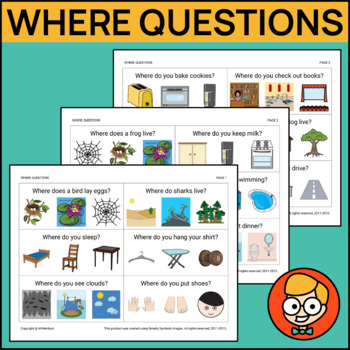 Where Questions with Three Visual Answer Choices