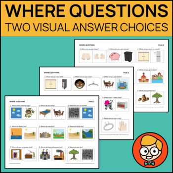 Where Questions with Two Visual Answer Choices
