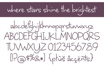 Where Stars Shine the Brightest Font for Commercial Use