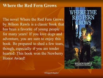Where The Red Fern Grows Introduction PowerPoint Presentation