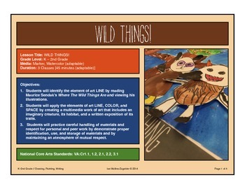 Where The Wild Things Are Art Unit
