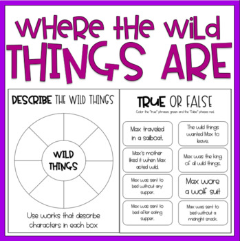 Where The Wild Things Are {Reading Response + a FREEBIE) / Read Aloud