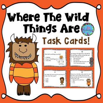 Where The Wild Things Are Task Cards  (Reading Comprehension)
