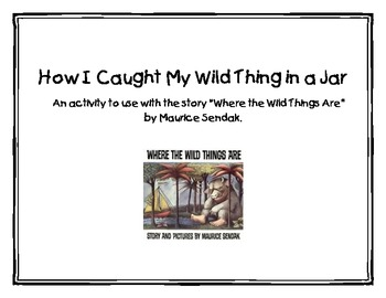 Where The Wild Things Are Writing Activity