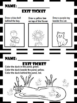 Where Things Are and How They Move - Exit Tickets