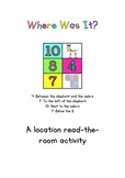 Where Was It Location Read The Room Activity