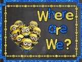 Where We Are Clipchart (Blue and Yellow Minion)