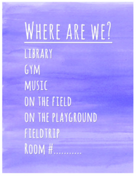 Where We Are Door Sign Pack