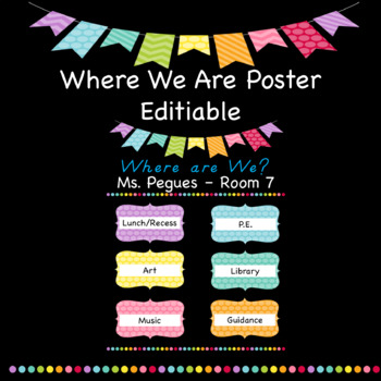 Where We Are Editable Poster