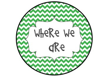 Where We Are Green Chevron Posters