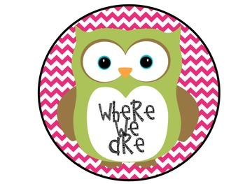 Where We Are Owls and Pink Chevron Posters