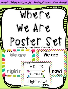 Where We Are Poster Card Set