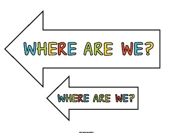 Where Are We Chart (Posters/Signs)