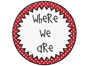 Where We Are Red Polka Dots