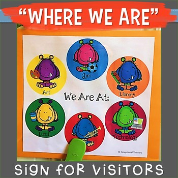 WHERE WE ARE Sign Monsters Theme
