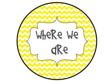 Where We Are Yellow Chevron