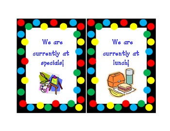 Where We Are classroom signs