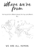 Where We're From Culture World Map Poster (ELL/ESL)