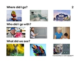 Where, Who and What Questions with Picture Choices